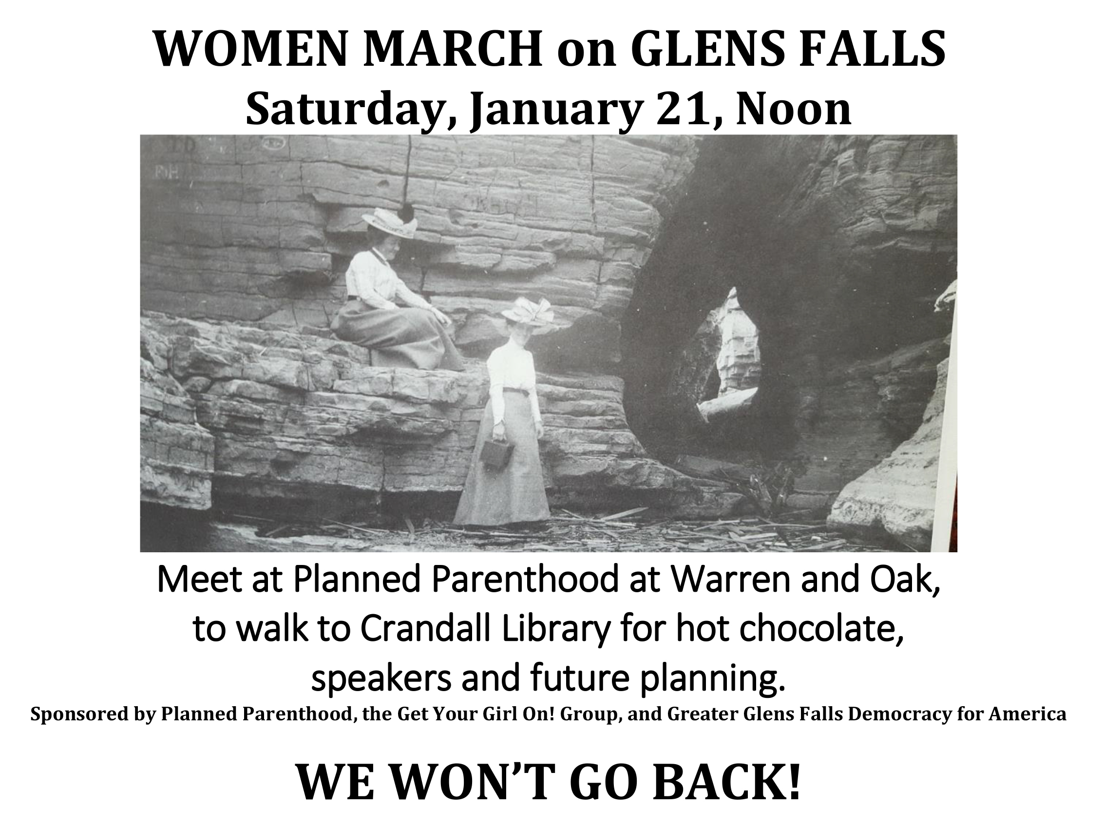 Women_march_on_glens_falls_b_w
