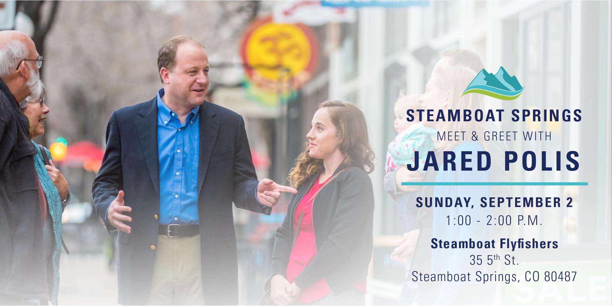 Jared Polis Meet And Greet In Steamboat Springs