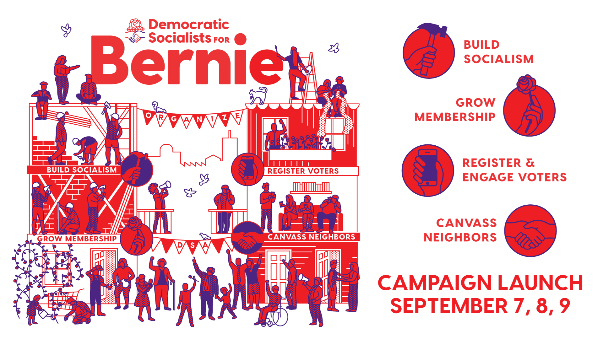 Chicago DSA For Bernie Campaign Launch Canvass
