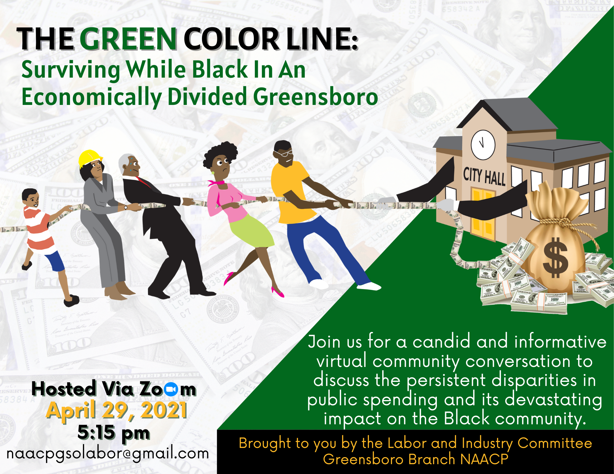 The_green_color_line