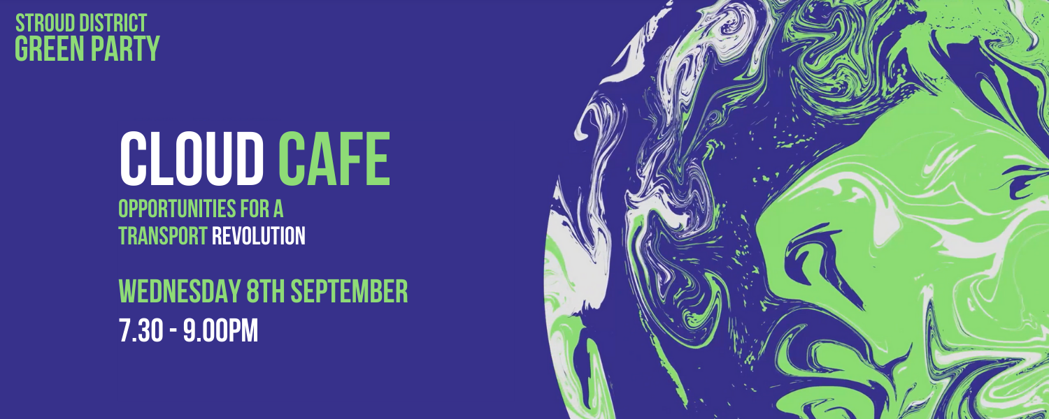 Cloud Cafe - Opportunities for a transport revolution, Wednesday 8th September, 7.30 - 9.00PM