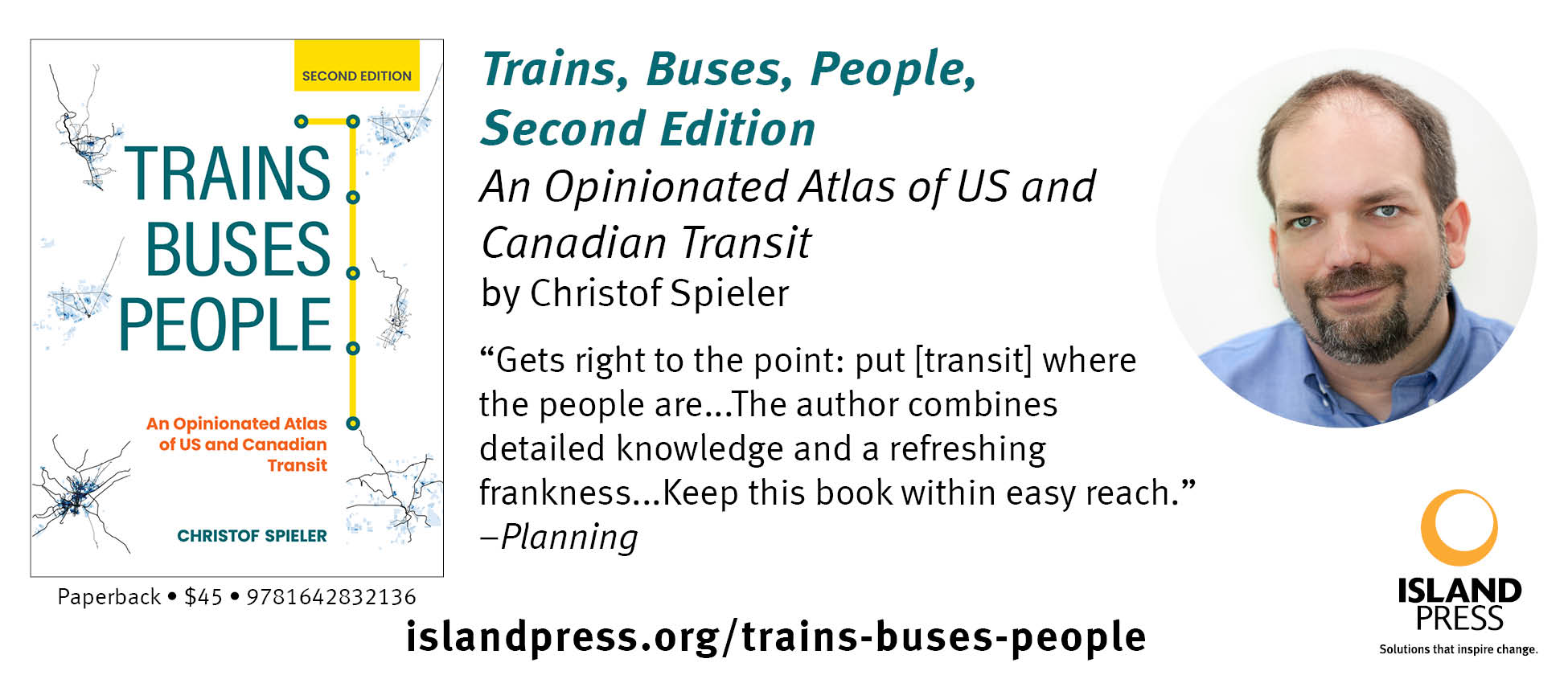 Trains, Buses, People Second Edition:  An Opinion Atlas of US and Canadian Transit