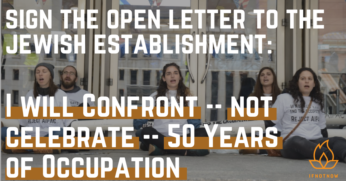 Sign the Open Letter: I Will Confront -- Not Celebrate -- 50 Years