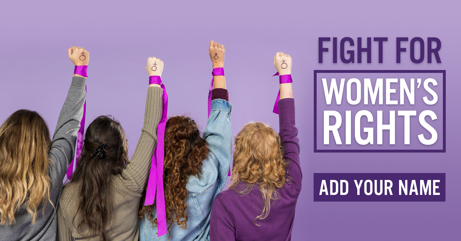 Stand for women's rights