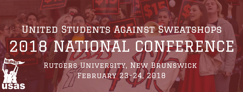 united students against sweatshops each year hundreds of students across the country converge at the usas national conference for a powerful weekend
