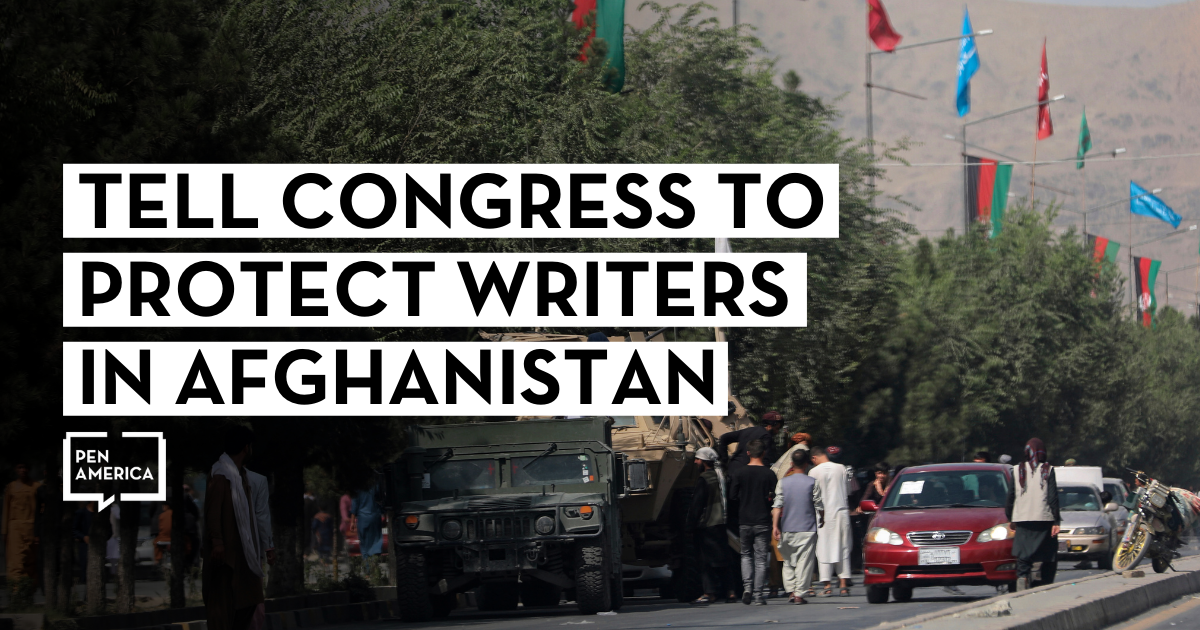 Tell Congress to Protect Writers in Afghanistan