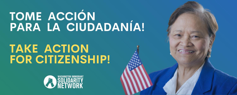 Tome Accion para la ciudadania and Take action for citizenship