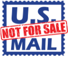 US Mail Not For Sale
