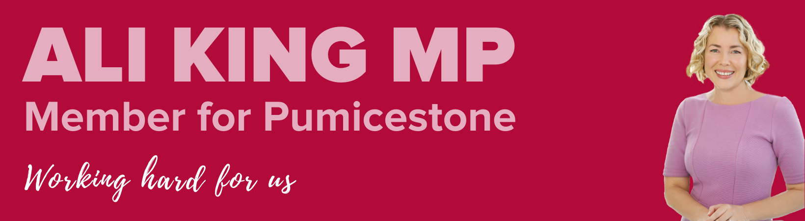 Ali King Member for Pumicestone
