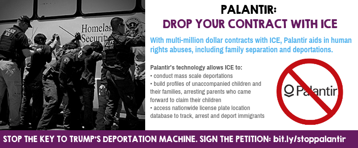 Sign the Petition: Palantir, stop profiting from migrant