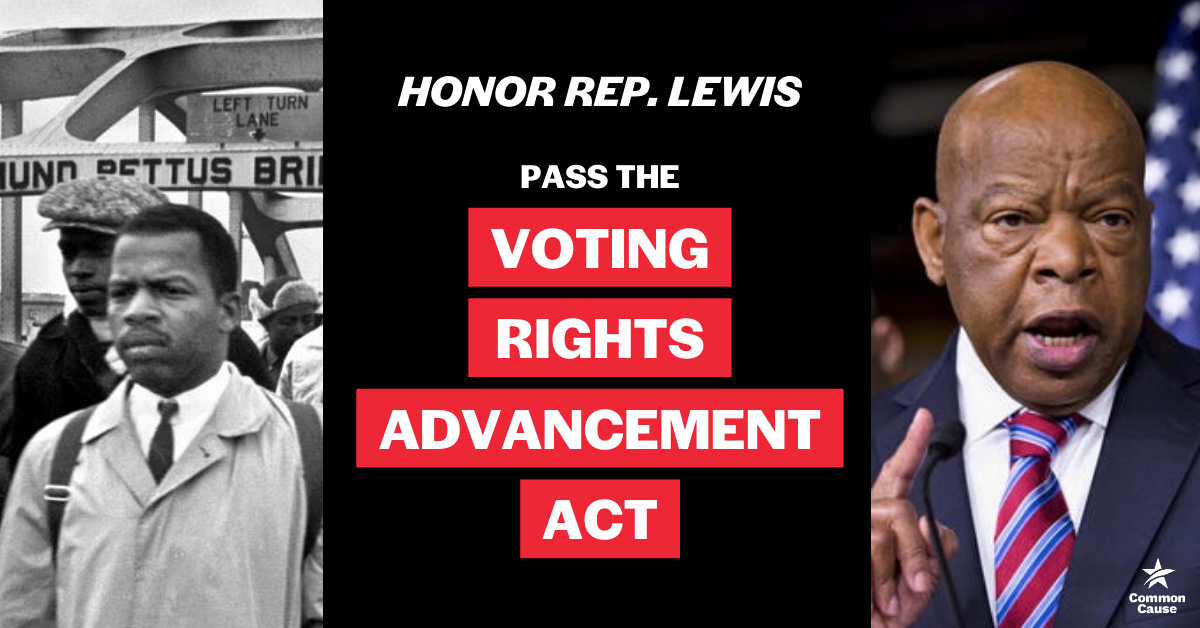 Honor Rep. John Lewis: Pass the Voting Rights Advancement Act