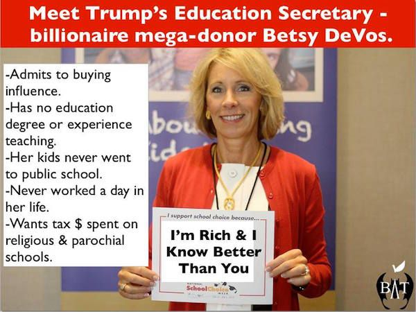 How Unqualified Is Betsy Devos >> Betsy Devos Is Not Qualified To Be Secretary Of Education