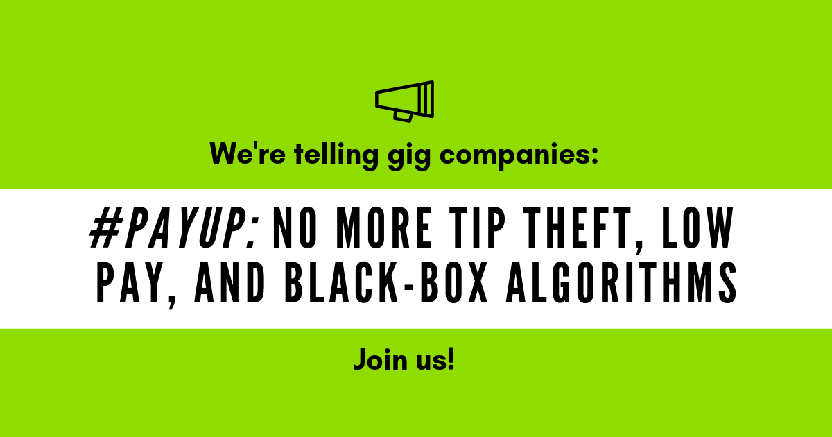 actionnetwork.org - #PayUp: It's time to reboot the gig economy