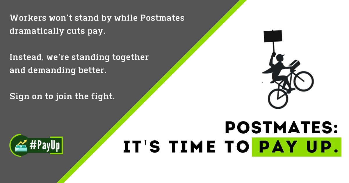 Postmates: We've had enough  It's time to pay up