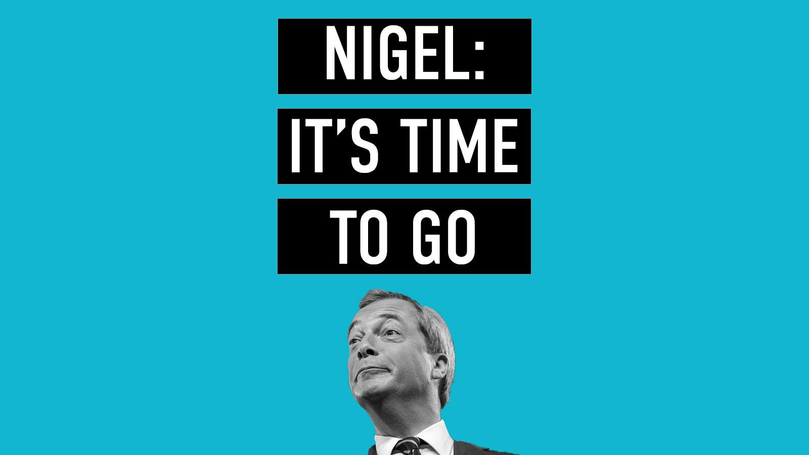 Sign Nigel Farage's goodbye card