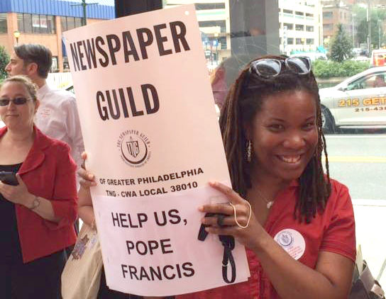 Newspaper Guild Members Rally, Win Agreement in Philadelphia