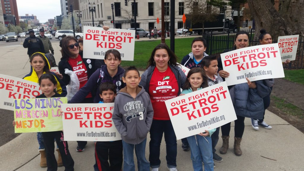 Kids at rally for Detroit