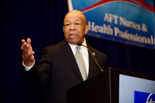 Rep. Elijah Cummings at AFT conference. Michael Campbell photo