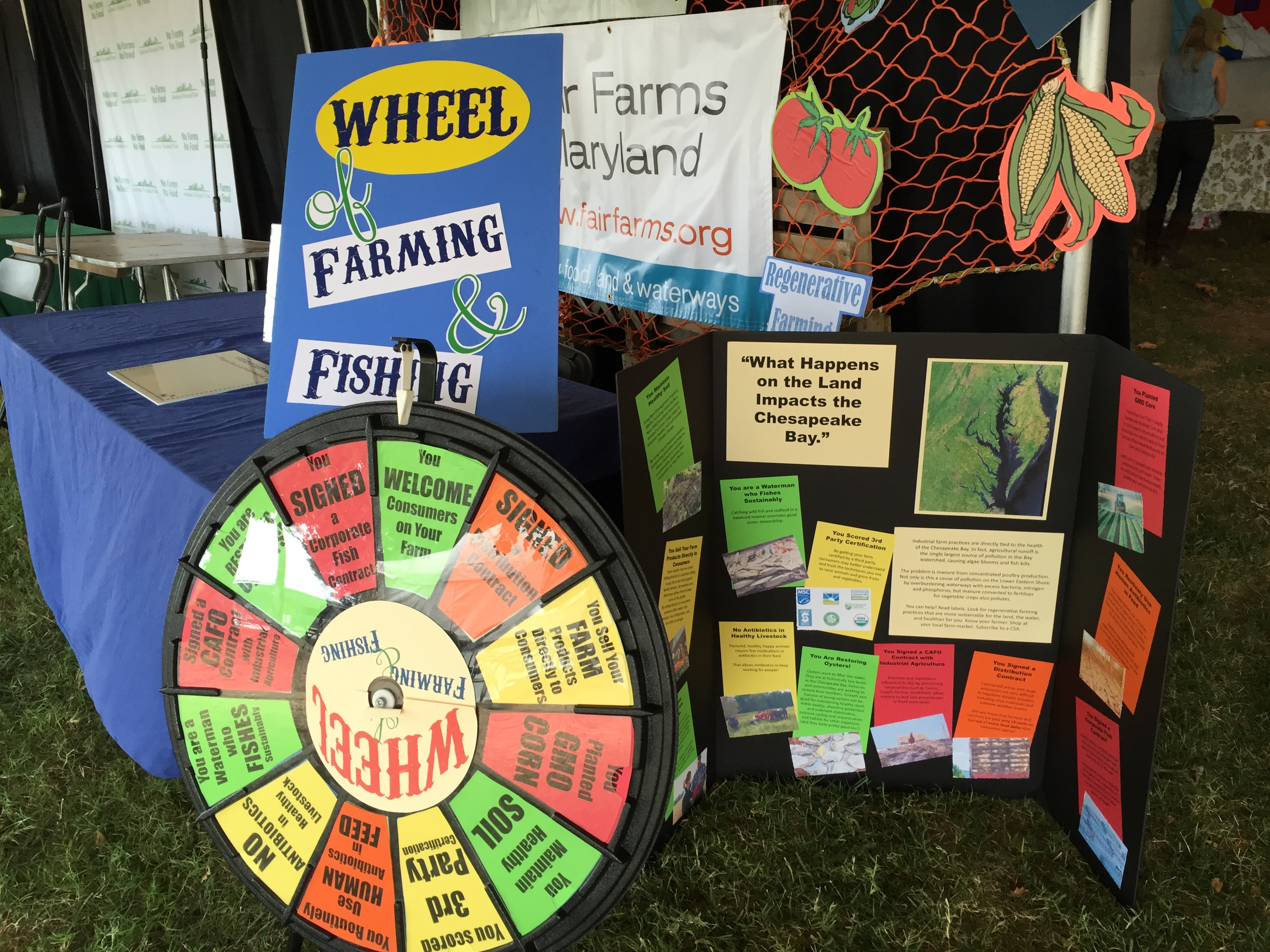 Farm Aid booth