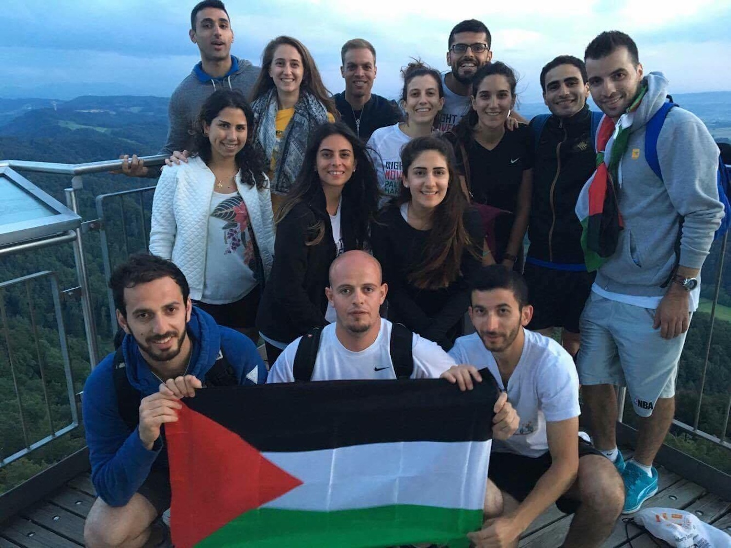 Palestinian marathoners from Right to Movement