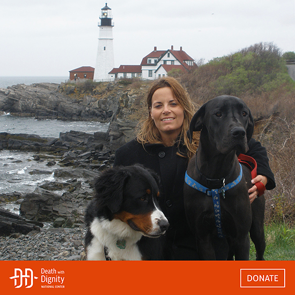 Rebeca VanWormer on the Maine Coast