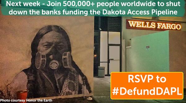 Sitting Bull mural outside Wells Fargo