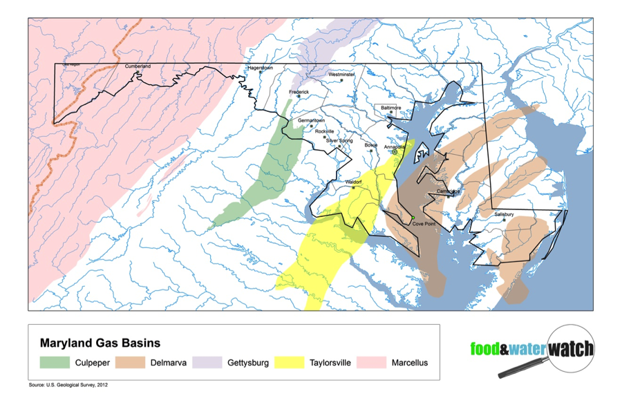 Maryland shale basins