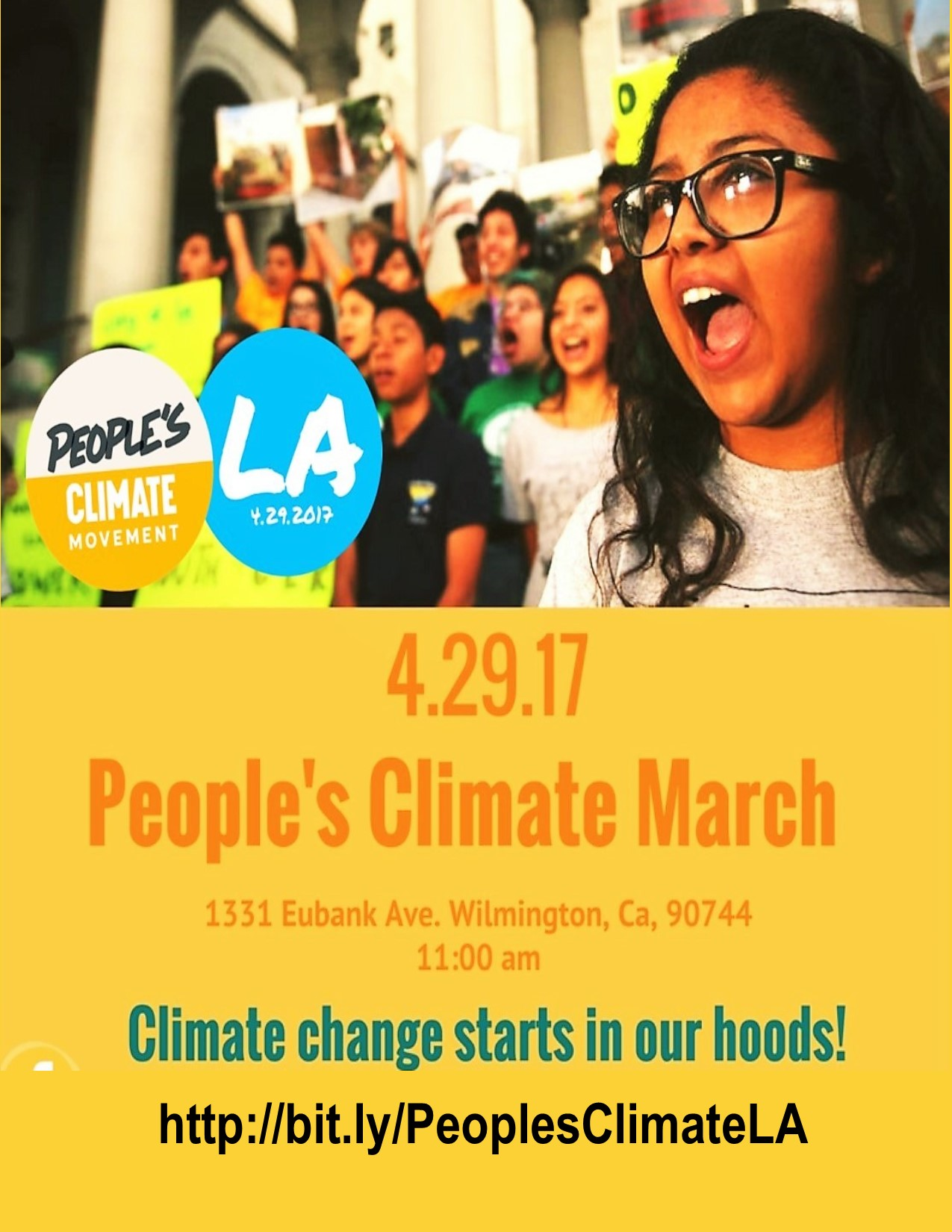 People's Climate Movement LA March Flyer April 29