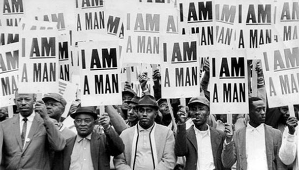 Dr. Martin Luther King & 1968 AFSCME Sanitation Workers