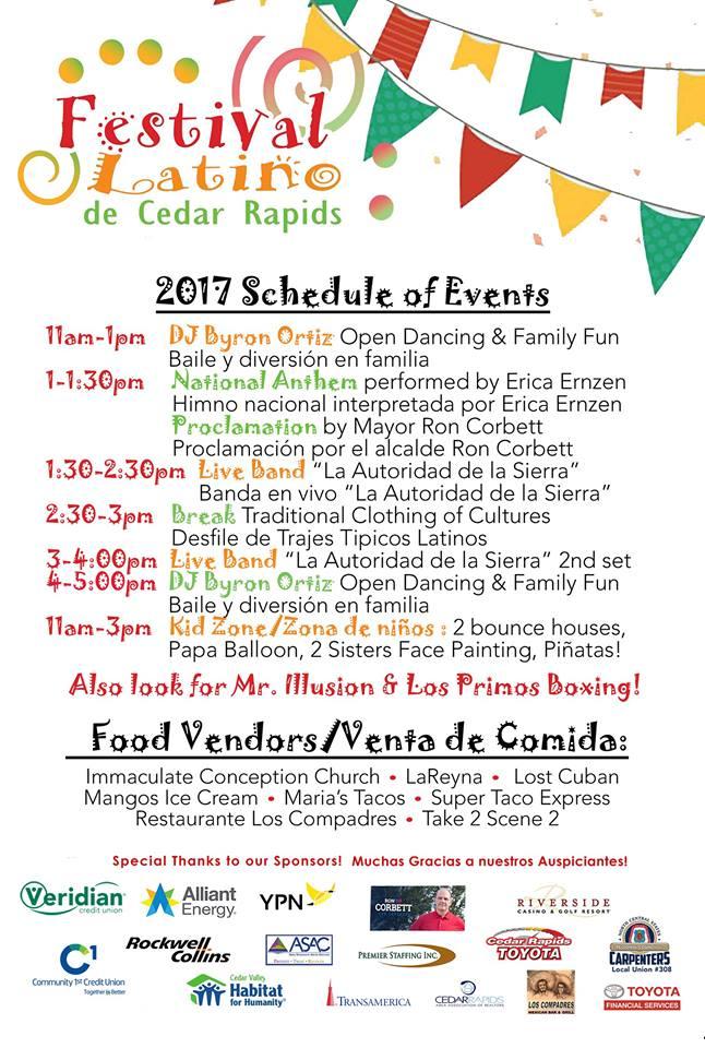 Festival Latino on Sunday in Cedar Rapids