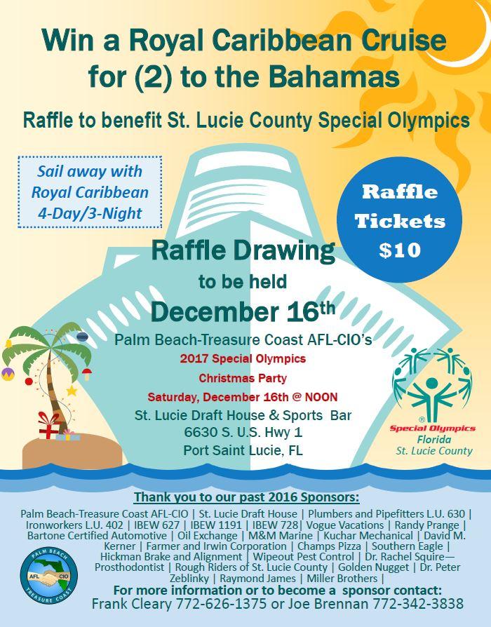 Special Olympics Raffle Flyer