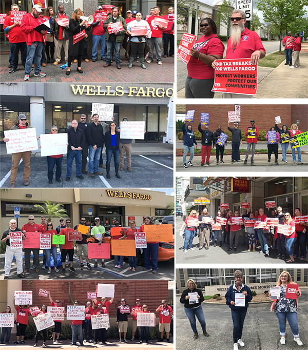 CWAers to Wells Fargo: Stop Outsourcing and Offshoring U S