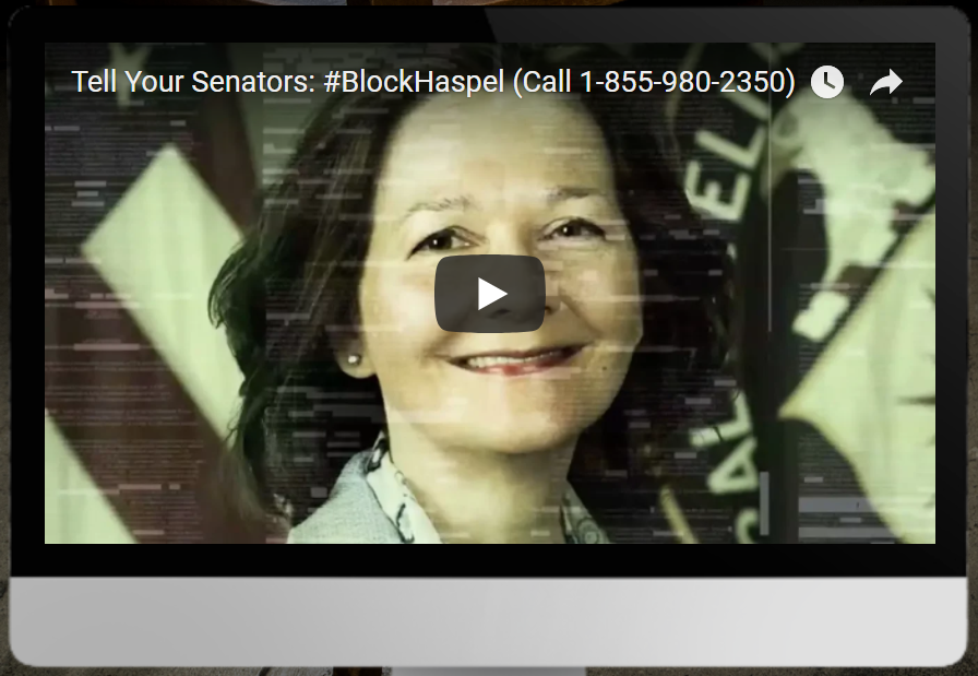 Block Haspel to the CIA