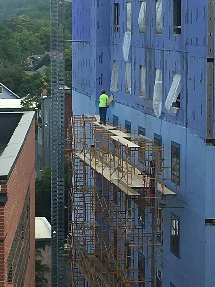 Dangerous Working Conditions in Ithaca: Hilton Canopy Hotel Development