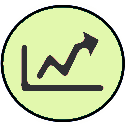 graph increase icon