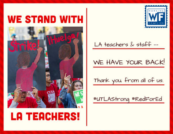 Sign the card: We stand with LA teachers!