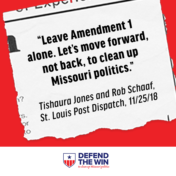 Leave Amendment 1 alone