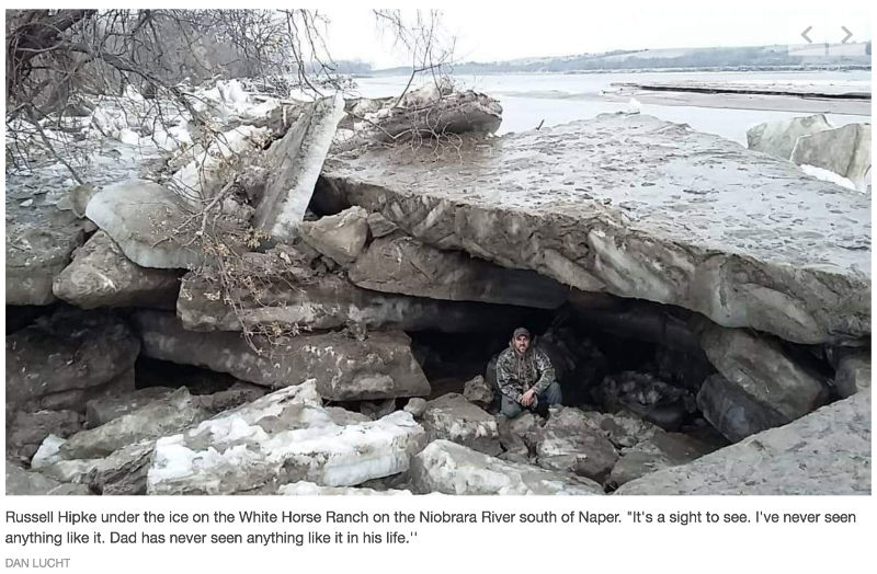 Photo: 'Icebergs' left in wake of Nebraska flooding