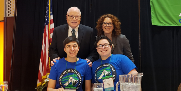 AFSCME President Lee Saunders, Council 75 Executive Director Stacey Chamberlain, Lead GRU Negotiator Sam Papadakis, and some schmuck who writes these emails.