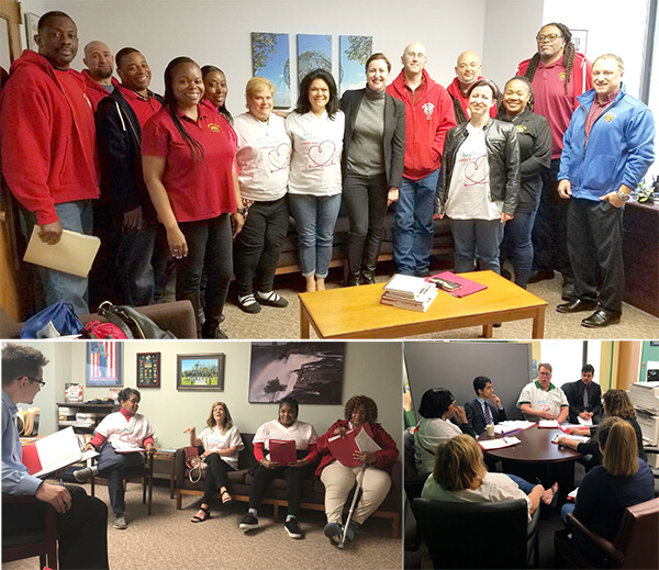 New York CWA Members Lobby in Albany for Safe Staffing and