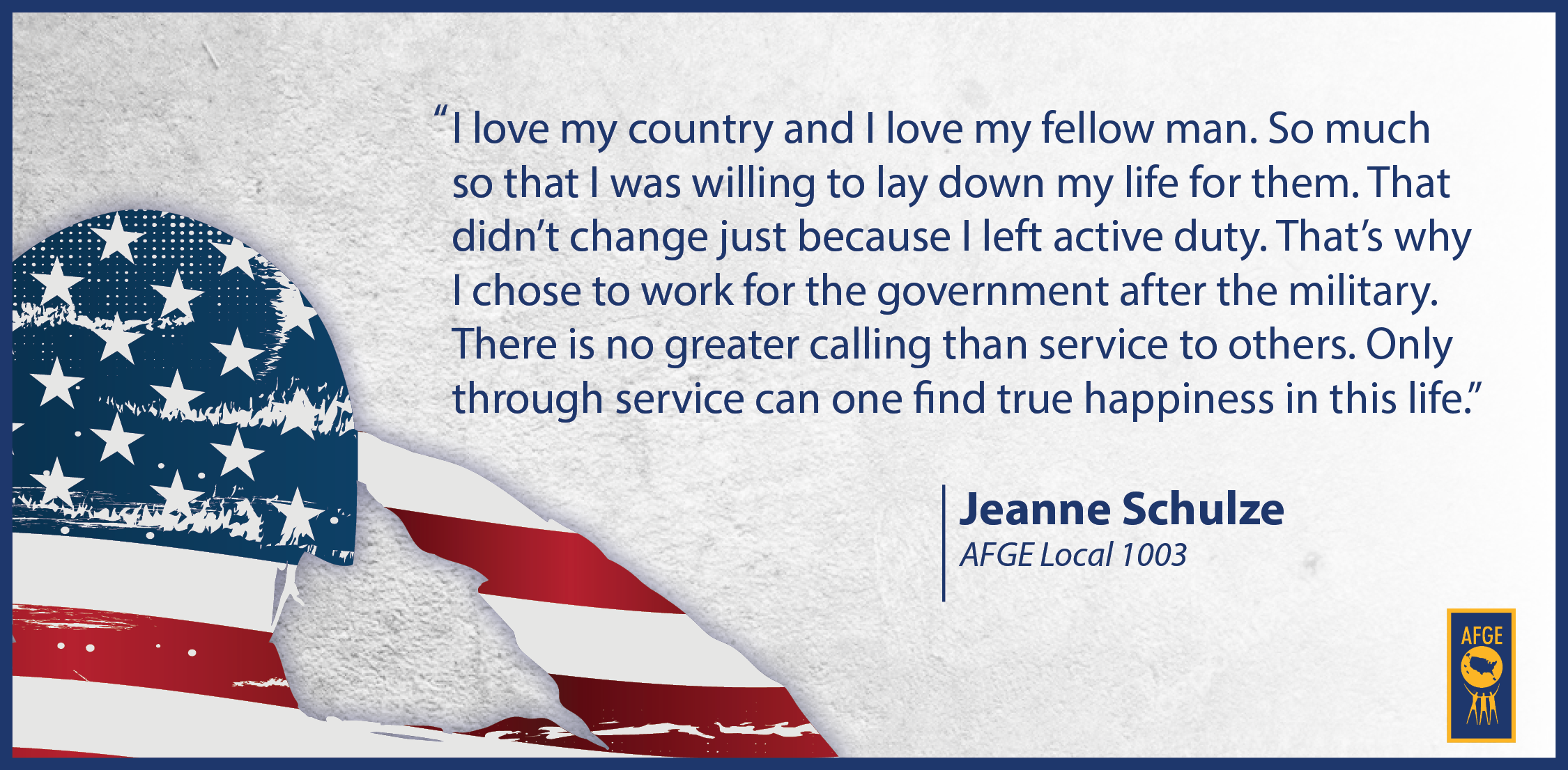 Quote from Jeanne Schulze of AFGE Local 1003