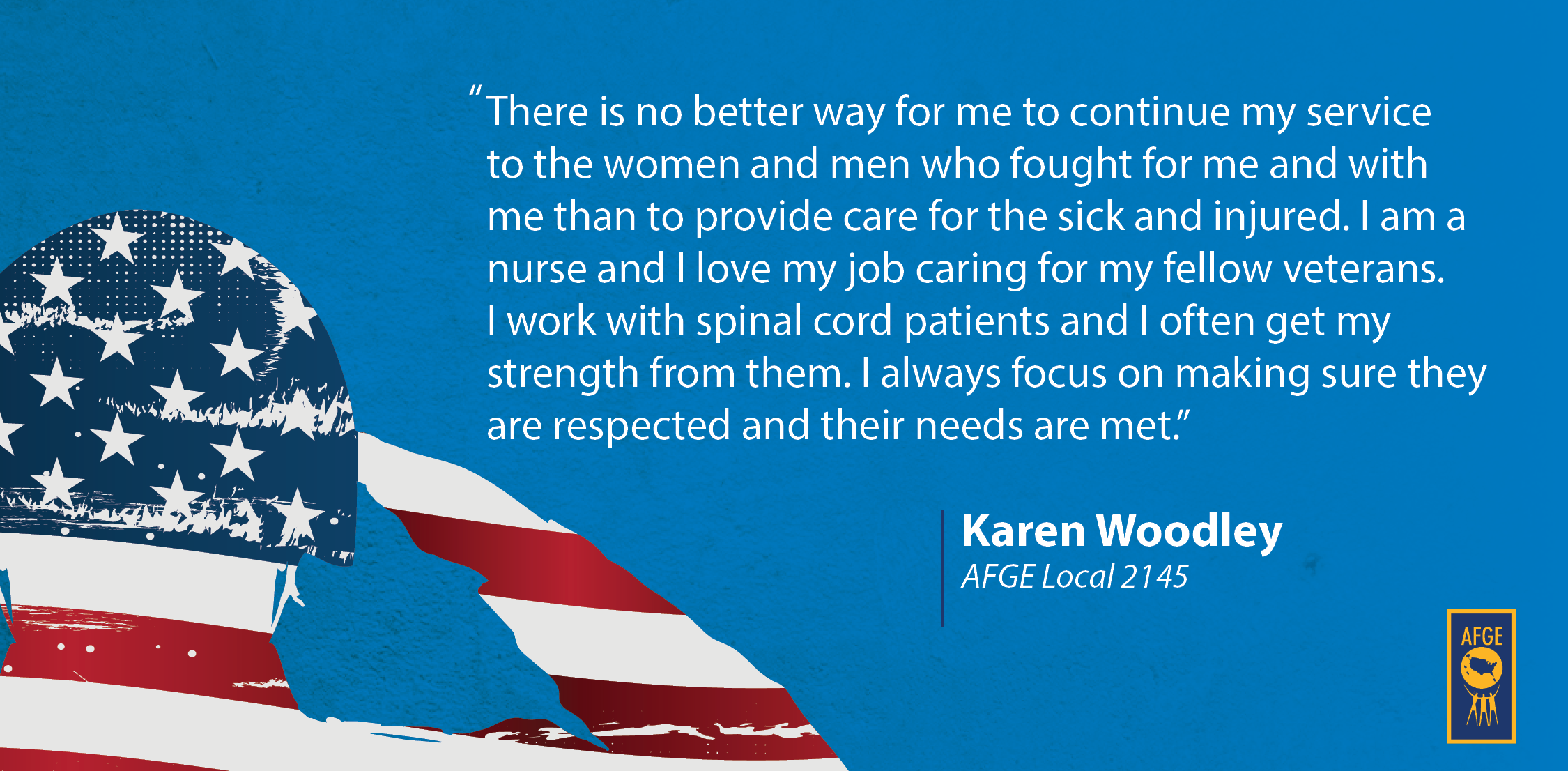 Quote from Karen Woodley of AFGE Local 2145