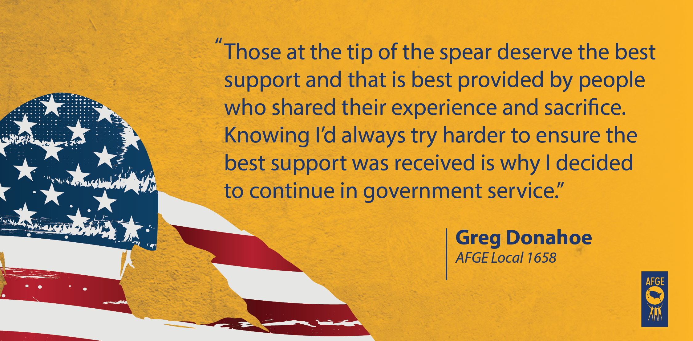 Quote from Greg Donahoe of AFGE Local 1658