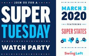 Super Tuesday Election Day Watch Parties