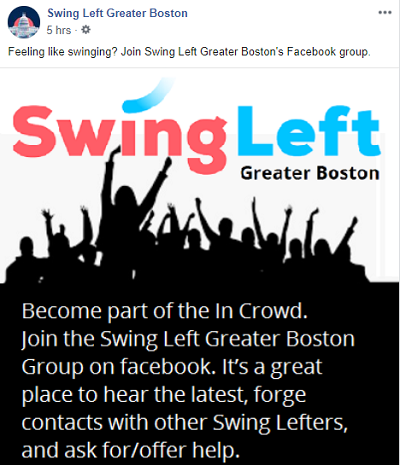 Join the Swing Left Facebook Group