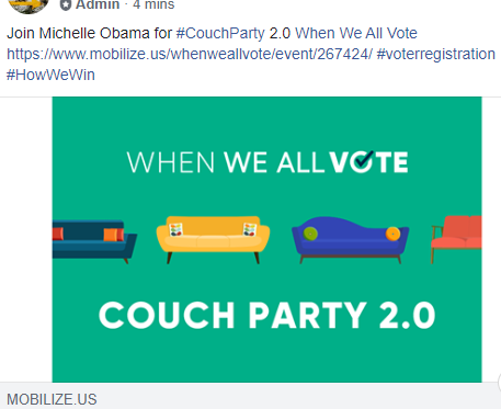 Michelle Obama's Couch Party