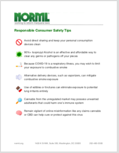 Download NORML's 'Responsible Consumer Safety Tips'