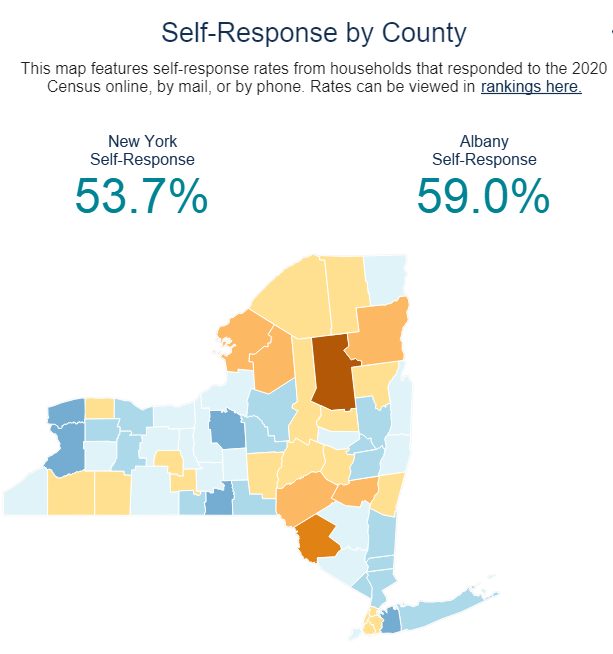 Self Response by County Image