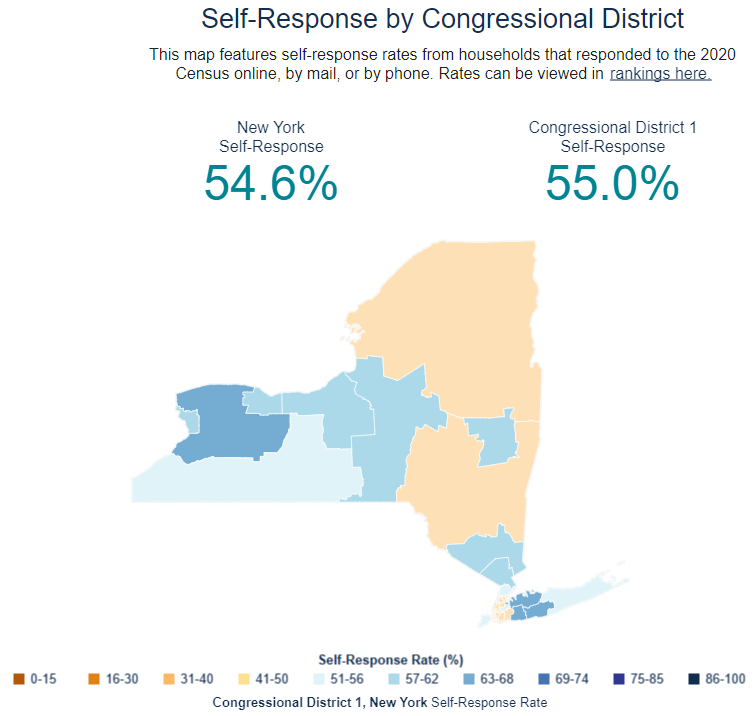 Self Response by Congressional District Image