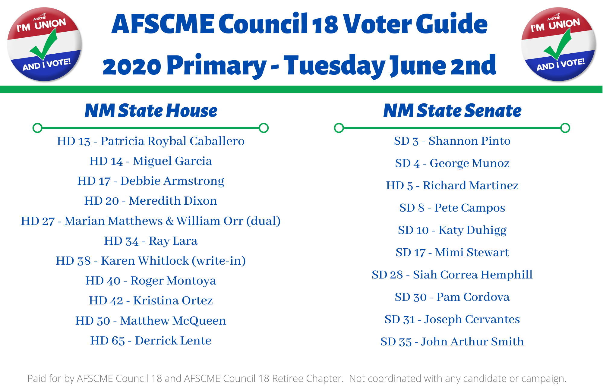 2020 Primary Voter Guide